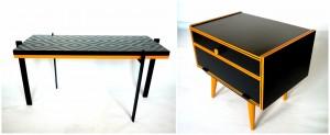 Hozzáillő szekrénykéve / with matching side table