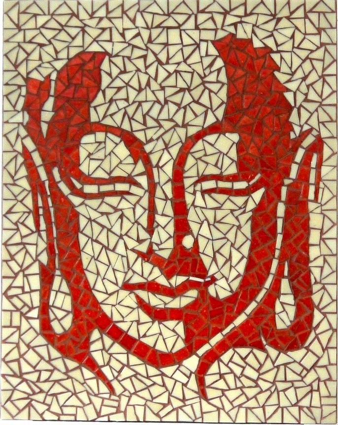 buddha piros-bezs